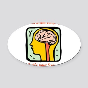 Brain-3-[Converted]b Oval Car Magnet